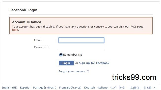 How to Enable/Recover a Disabled Facebook Account.