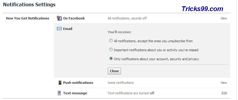 How to stop unwanted Facebook Notification Emails to your Email Inbox ? ? - New