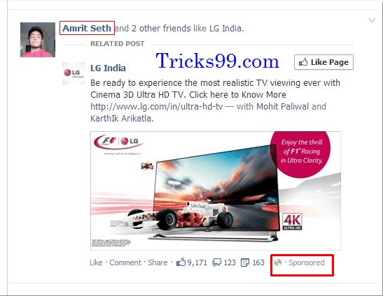 How to Remove Your Profile Name and Picture in Facebook Sponsored Stories-Social Ads.