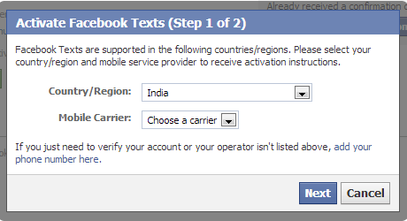 Connecting your Mobile number to Facebook Account-secure facebook account