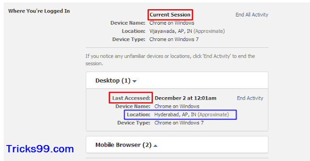 Where You're Logged In-Security Settings-secure facebook account
