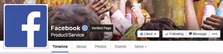 how to verify facebook page