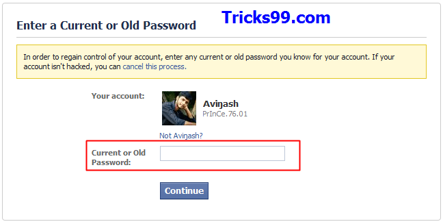How to recover a hacked facebook account tricks99 my facebook account was hacked old password ccuart Image collections