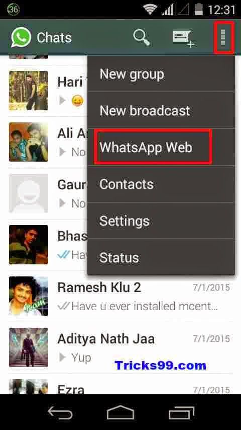 HOW TO USE WHATSAPP ON YOUR PC/LAPTOP/TABLET – WEB BROWSER.