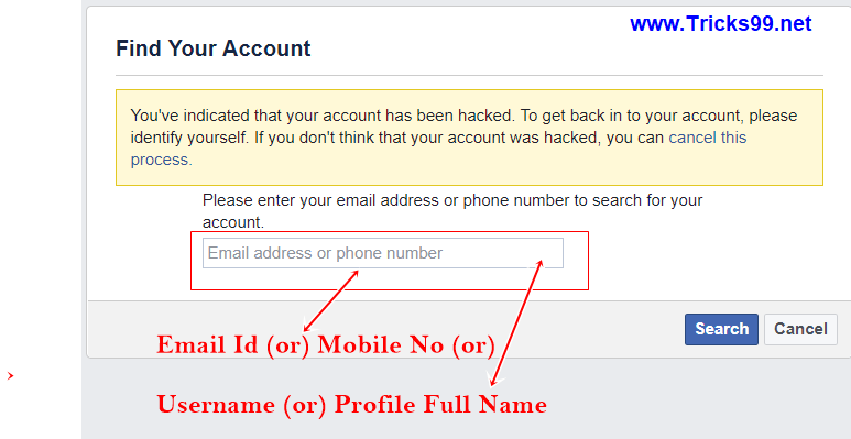 How to Recover a Hacked Facebook Account  - Tricks99