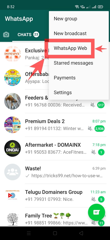 Whatsapp-Web-option
